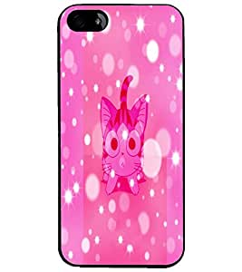 PrintDhaba Kitty D-2901 Back Case Cover for APPLE IPHONE 5 (Multi-Coloured)