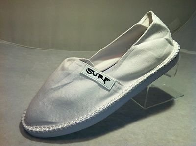 Surf Womens Canvas Slip On Espadrille Shoes Sneakers Beach Pumps Sizes UK 3-8
