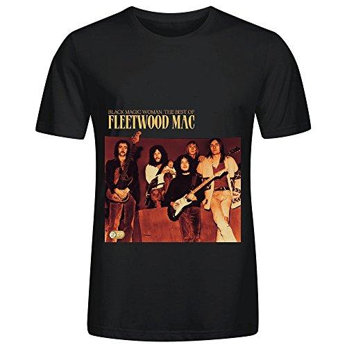 Fleetwood-Mac-Black-Magic-Woman-The-Best-Of-Fleetwood-Mac-Soul-Mens-O-Neck-Graphic-T-Shirts