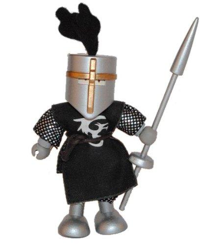 Biegepuppe Holz - schwarzer Ritter mit Lanze