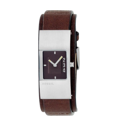 Fossil JR9675 Ladies Brown Leather Strap Watch with Brown Dial