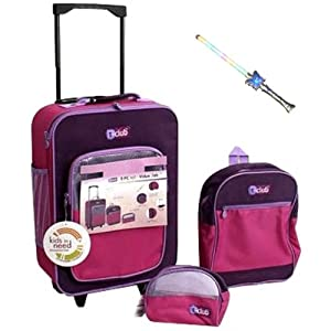 Amazon.com: 3-piece Kids Luggage Sets Pink for Girls Pink