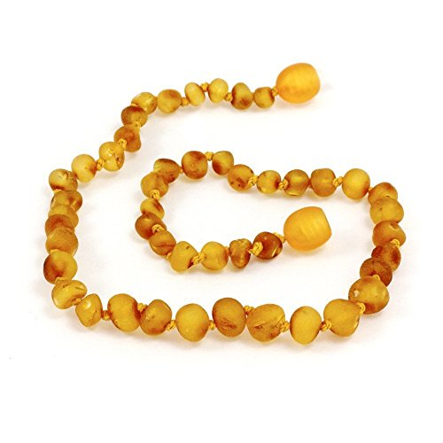 "Momma Goose Baroque Teething Necklace, Unpolished Honey, Small/11-11.5"" - 1"