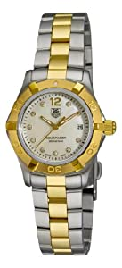 TAG Heuer Women's WAF1425.BB0825 Aquaracer 28mm Two-Tone Diamond Dial Watch from TAG Heuer