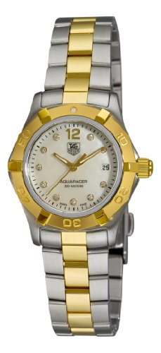 TAG Heuer Women&#8217;s WAF1425.BB0825 Aquaracer 28mm Two-Tone Diamond Dial Watch