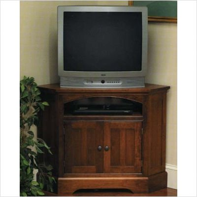 Buy Low Price Chatham 20-54 Kittery Point Cherry Corner 39″ TV Stand Finish: Antique Black, Hardware: Antique Brass Bail (20-54 (Antique Black/Brass))