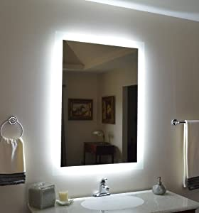 wall mounted lighted vanity mirror mam92840 28 home. Black Bedroom Furniture Sets. Home Design Ideas