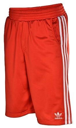 Adidas Originals Men's adi Tricot Training Shorts-Red/White-Large