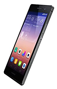 Huawei Ascend P7 Sim Free Smartphone (Genuine UK Stock) - Black (5 inch, 1.8GHz Quad Core, 13mp and 8mp HD Cameras, 4G, Android 4.4, 16GB Storage + MicroSD)