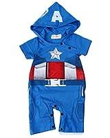 StylesILove Baby Boy Captain America Hoodie Costume Jumpsuit