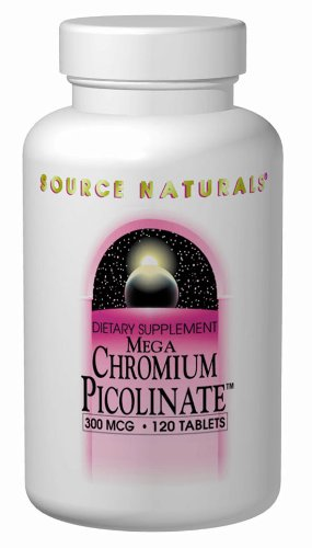 Source Naturals Mega Chromium Picolinate 300Mcg, 120 Tablets
