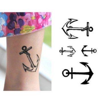 Temporary tattoos anchor sailor 2pcs lot vehicles parts for Wonder woman temporary tattoo