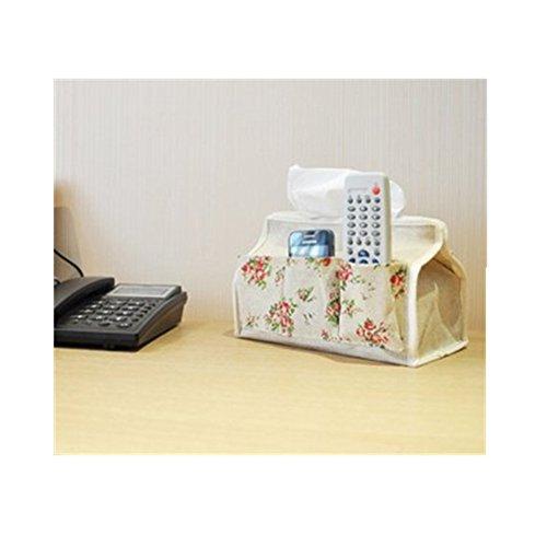 Cute Floral Paper Facial Tissue Box Holder Container Car Tissue Bag Home Garden Bathroom