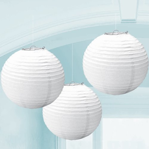 Kolossalz White Paper Lamp || Hanging Round Paper Lamp-10 Inch