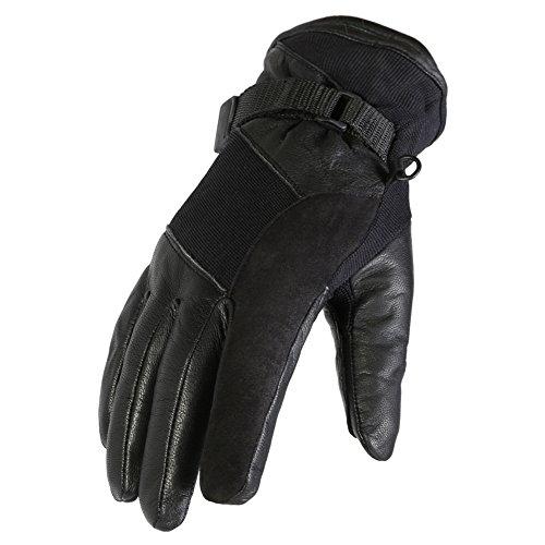 Texpeed - Guanti Randall da uomo per motociclismo - taglio corto - nero - Taglia XXL - 11-11,5cm