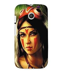 Fuson 3D Printed Fantasy Girl Designer Back Case Cover for Motorola Moto E - D935