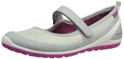 ECCO Womens Biom Lite Mary Jane Low-Top Trainers 80214354299 Concrete/Shadow White 7.5 UK, 41 EU
