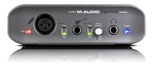 Fast Track 2 USB Audio Interface with dual input and mic preamp + Pro Tools Software - Record Guitar and Vocals on Your Computer