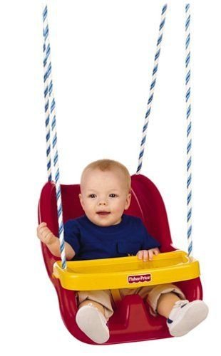 Fisher-Price Infant To Toddler Swing in Red, New