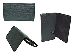 Premium Branded Fabric Leather Card Holder Pouch for Allview P7 Seon - Black - WTPBK60#0082