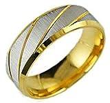 (キチシュウ)Aooazジュエリー メンズステンレスリング指輪  シンプルのデザイン シルバー、ゴールド 高品質のアクセサリー 日本サイズ14号(USサイズ7号)