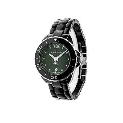 Android Women's AD452AKK Exotic Swiss Ceramic Quartz Black Watch