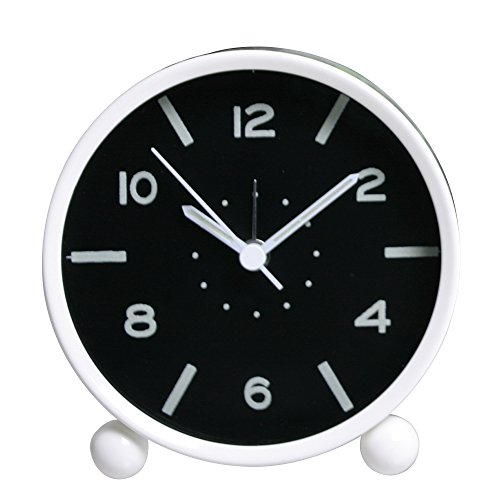 Happy Hours - Creative Fluorescent Bedside Alarm Clock / Easy Carry Sweet Sleep Luminous Round Alarm Clocks(White) (Hands Free Gear Clock compare prices)