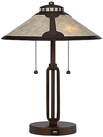 Samuel Mica Shade Desk Lamp With Usb Port Amazon Com