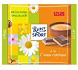 RITTER SPORT CREMA CATALANA NEW, 16 CHOCOLATE BARS WITH EACH 100 grams