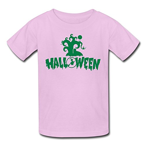 Bingo Kids Halloween Trick Treat Witches Cotton Tee Pink