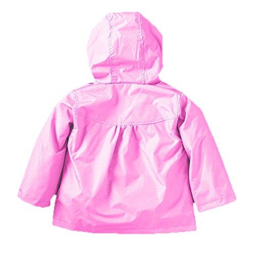 Tres Chic Mailanda Kinder Maedchen Regenjacke Regenmantel mit Kapuze Rosa Groesse 90 1-2 Jahre -