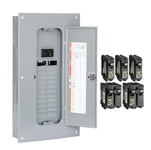 Square D by Schneider Electric HOM2448M100PCVP Homeline 100 Amp 24-Space 48-Circuit Indoor Main Breaker Load Center with Cover - Value Pack (Plug-on Neutral Ready), , (Homeline Panel 100 Amp compare prices)