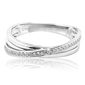 0 1ctw wedding band ring criss cross