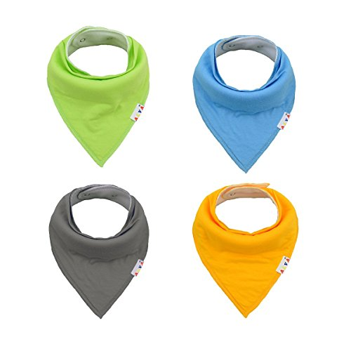 buy Alva Designed Stylish Baby Bandana Bibs for Boys and Girls 4 Pack of Super Absorbent Baby Gift Sets KSW01 for sale