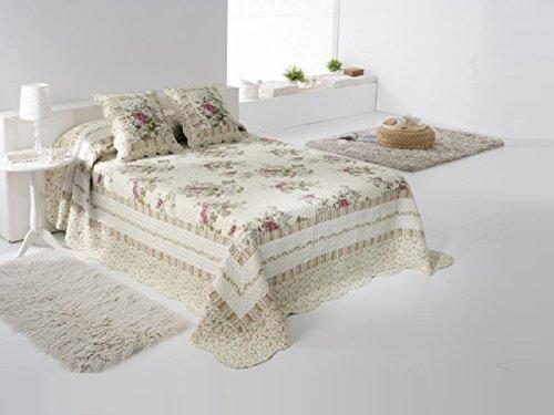 Fundeco - Colcha Bouti ALBA - cama de 150/160 cm. Color Unico
