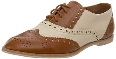 Wanted Shoes Women's Myrtle Lace-Up Oxford,Tan/Beige,6 M US