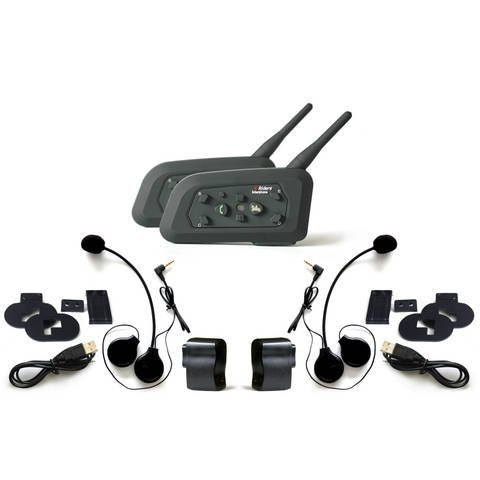 Horse Power Hsp-6Rmbt Motorcycle, Ski, Atv, Snowmobile, Helmet Bluetooth Intercom Headset Connects Upto 6 Riders - Long Range 1000M (Pair)