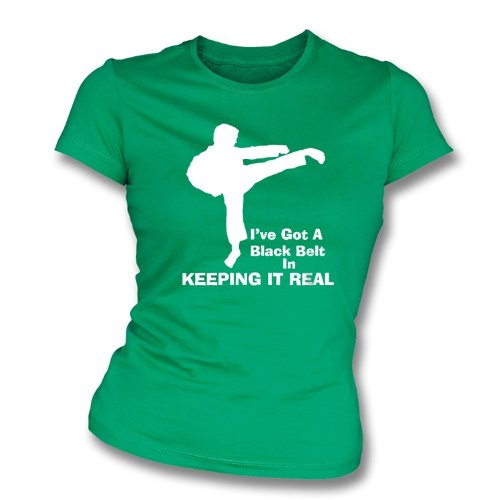 I've got a black belt... girls slimfit t-shirt