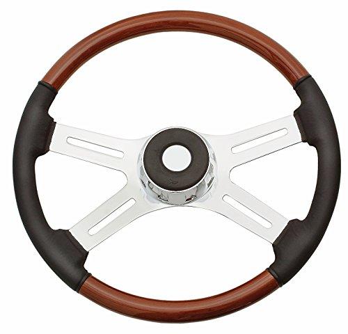 Woody's WP-SWF2008L Rosewood Chrome Truck Steering Wheel (Beautiful African Hardwood) (Freightliner Columbia Steering compare prices)