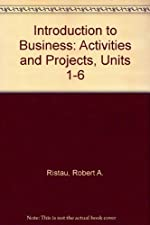 Activities and Projects Units 1 6 Intro to Business by Steven A. Eggland