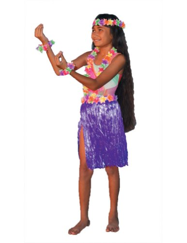 Aloha Set Child Costume Purple Kids Girls Costume