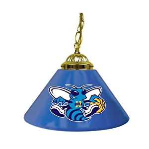 New Orleans Hornets NBA Single Shade Bar Lamp (14-Inch 14-Inch, Blue) by TG