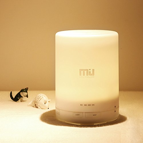 Essential Oil Diffuser, 300ml Ultrasonic Air Humidifier, Warm White Color Aroma Diffuser, Large Mist Humidifier, Aromatherapy Diffuser for Home Decor, Warm and Romantic (Muji Aroma Diffuser compare prices)