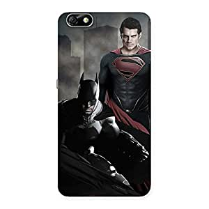 Stylish knight Vs day Ready Multicolor Print Back Case Cover for Honor 4X