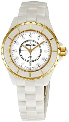 Chanel Men's H2181 J12 White Dial Watch