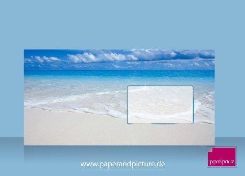 Malediven Traumstrand, 10er-Set Motiv-Umschläge DIN lang, beidseitig komplett bedruckt
