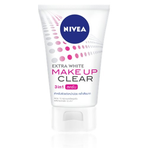 Nivea Cleansing Foam Extra White Make Up Clear Scrub Foam Wash Net wt. 3.53 Fl.Oz. or 100 g. (Nivea Extra White Mud Foam compare prices)