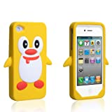 "Apple iPhone 4 Tasche Silikon Pinguin H�lle Gelbvon ""Yousave Accessories�"""