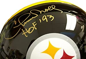 Chuck Noll Autographed Hand Signed Steelers Black Full-Size Helmet - JSA COA by Hall of Fame Memorabilia