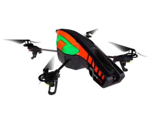 Parrot AR.Drone 2.0 Quadricopter Controlled by iPod touch, iPhone, iPad, and Android Devices -Orange/Green